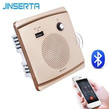 JINSERTA Bluetooth hoparlör akıllı soket montaj HiFi müzik çalar eller serbest 110 230V & 5V 2.1A USB şarj portu