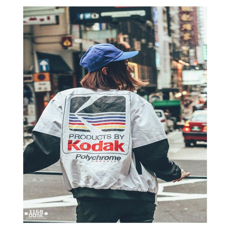Los hombres de las mujeres de ropa de béisbol ropa de estilo japonés MA1 chaqueta de Harajuku piloto de la calle Harajuku impresión chaqueta tamaño asiático
