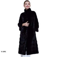 Large size S 10XL coat female winter 2018 coat female imitation fox fur rex rabbit fur grass faux fur coat long section mink fur