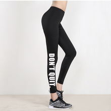 ZSIIBO Ladies Leggings Print Low-Waist Black Letter Stretch Paragraph Casual Outdoor