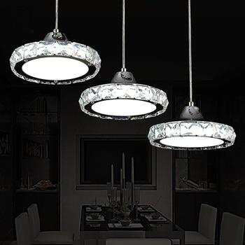 Ring LED Runde Anhänger Europäische Pendelleuchte Drei Köpfe Kreative Kristall Restaurant Esszimmer Wohnzimmer Lampen ZA