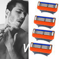 Hot sales Cheap  4pcs/lot Razor Blades for Men Shaving Fast Delivery,Normal Quality Cassette Shaving Standard for RU&Euro Shaver