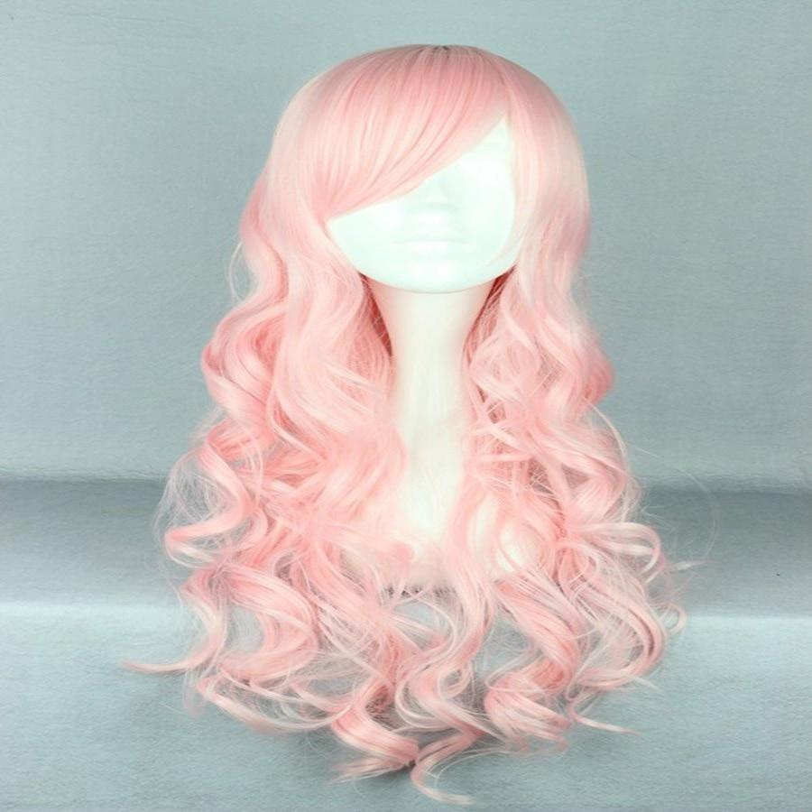 HAIRJOY Synthetic Hair Zipper 70cm Long Wavy Harajuku Lolita Cosplay Wig 18 Colors Available 87
