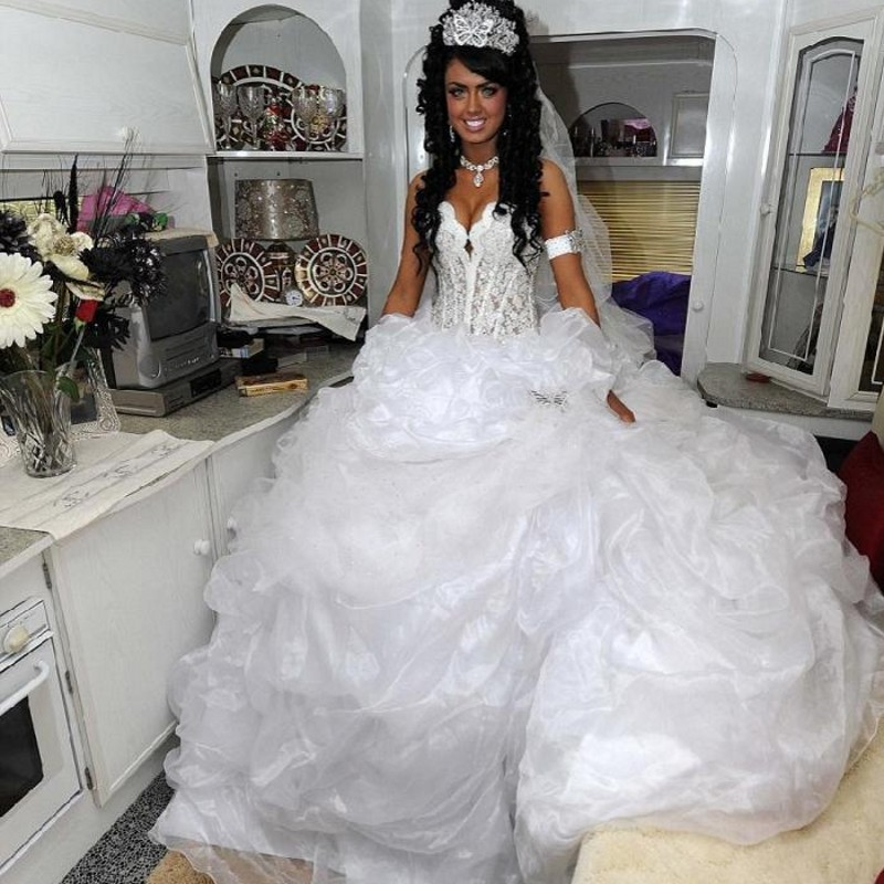White Gypsy Wedding Dress For Sale 81