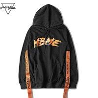 Aelfric Eden Männer Hoodies Hiphop Retro Bänder Youth Hoodie High Street Kanye Stil Brief Drucken Dunkle Kapuzenpulli SNL700