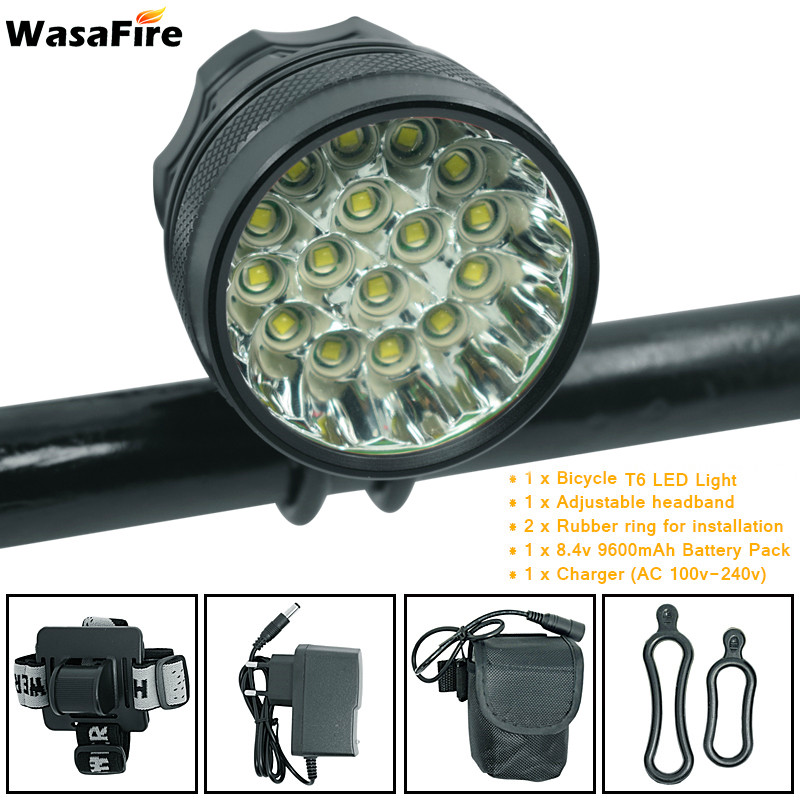 WasaFire 40000 Lumen 16*T6 LEDs Bicycle Lamp Front Headlight Riding Cycling Bike Front Light For Outdoor Night Riding Camping(China)