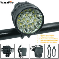 WasaFire 40000 Lumen 16*T6 LEDs Bicycle Lamp front Headlight Riding Cycling Bike Front Light for Outdoor Night Riding Camping