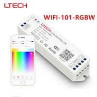 Nova venda 2.4G MINI WIFI rgbw controlador iOS APP Android Wi-fi RGBW conduziu controlador Sem Fio Para rgbw led luz de tira DC12V 24 V