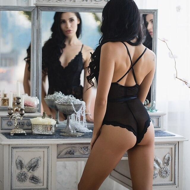 New VS Brand Women Bra Set Lingerie Corset Lace Bra Underwear For Women Racy Muslin Bodysuit Temptation Underwear intimates 2