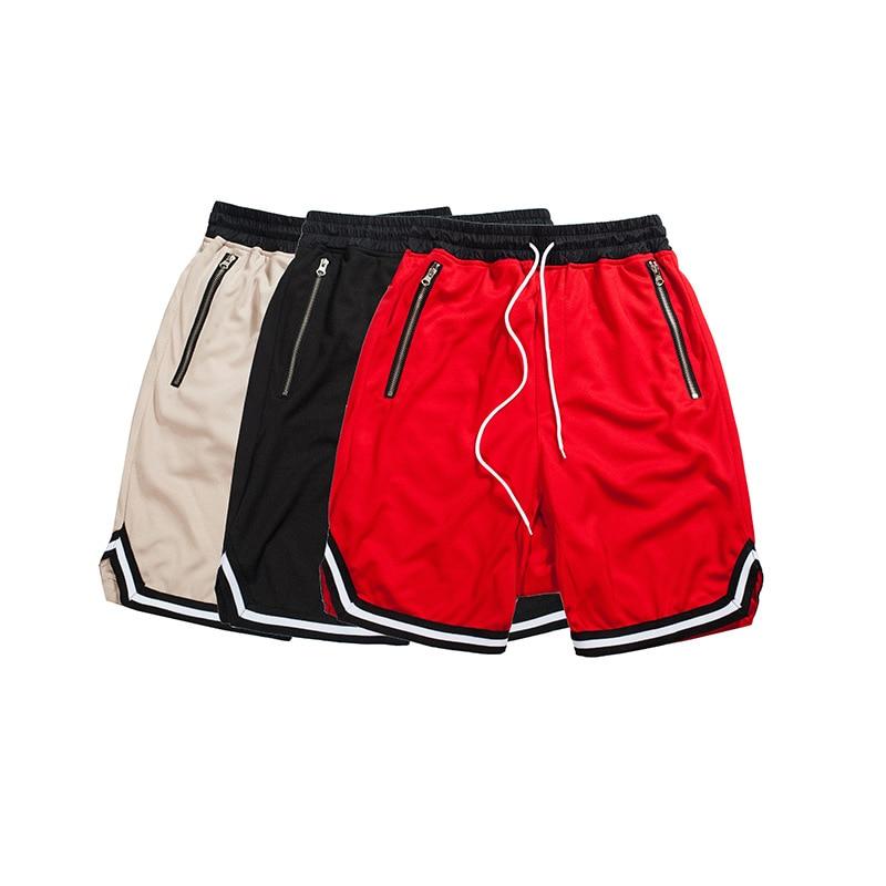 Contrasto di colore di Goccia Biforcazione Mens Hip Hop Shorts 2017 Estate Hip Hop Baggy Shorts Uomini Maglia Traspirante Materiale Shorts 3 cotlors