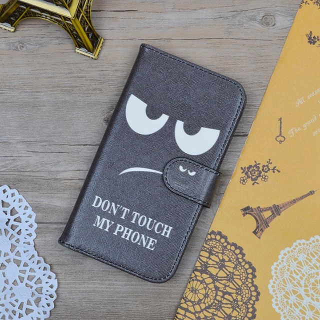 For Samsung Galaxy Trend Lite S7392 S7390 GT-S7392 GT-S7390 Case Cartoon Painting PU Leather Hard Cover Flip Wallet Phone Bag