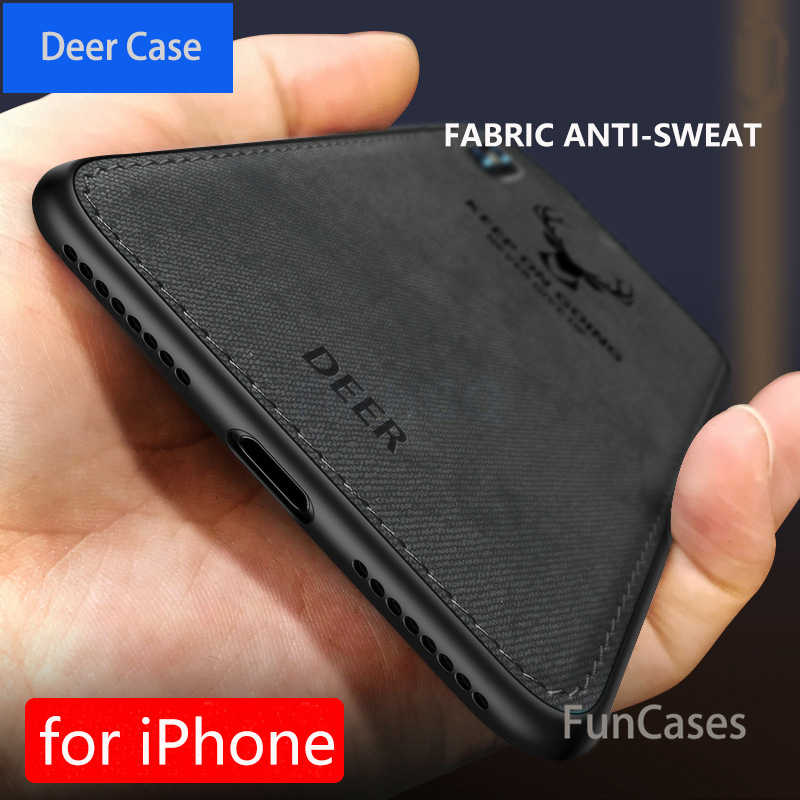 Горячая ткань текстура Олень 3D Мягкий ТПУ магнитный автомобильный чехол для Apple iPhone XS Max Встроенная Магнитная пластинка чехол для iPhone X XS крышка