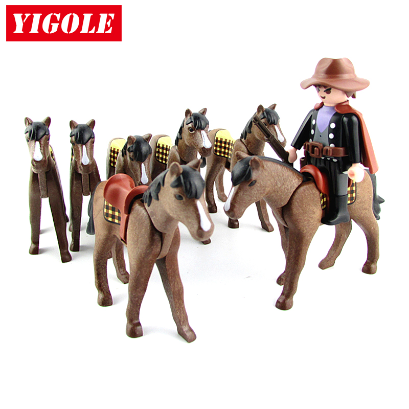 Playmobil Figure Knight War Horse Action Figures Kids Best Toys Gift