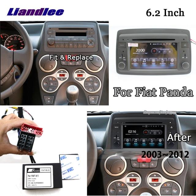 Liandlee 6.2 pouces Android 8.0 pour Fiat Panda 2003 ~ 2012 stéréo vidéo Wifi lecteur DVD carte Carplay GPS Navi Navigation multimédia