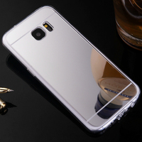 For Samsung Galaxy S7 Edge Case Luxury Ultra Thin Plating Mirror Soft TPU Silicone Case For