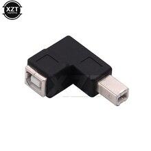 Mới nhất Ngay Angled 90 Bằng USB 2.0 Loại B Nam cho Nữ Extension Adapter cho Máy In Scanner chuyển đổi