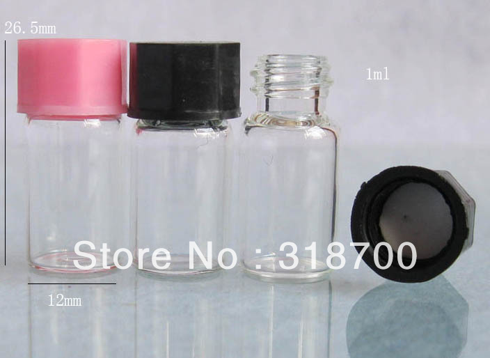 1ml Clear Mini Glass Bottle With Plastic Cap Sample Vials 0 5ml 1ml is available