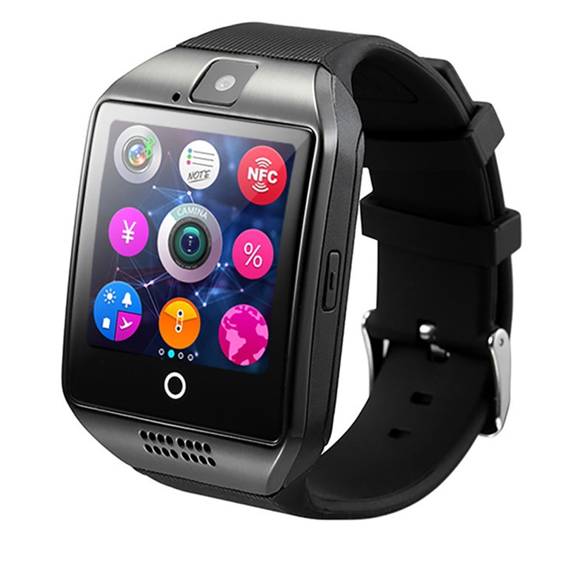 Smartwatc Q18 Smart Watch Support Sim TF Card Phone Call Push Message Camera Bluetooth Connectivity For IOS Android Phon цены онлайн