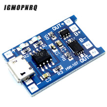 10Pcs Micro USB 5V 1A 18650 TP4056 Lithium Battery Charger Module Charging Board With Protection Dual Functions 1A Li ion