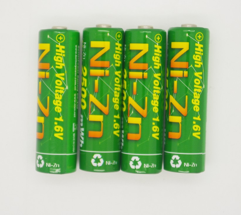 4pcs 1.6V 2500mWh <font><b>1.5V</b></font> <font><b>AA</b></font> <font><b>Battery</b></font> <font><b>Rechargeable</b></font> <font><b>Battery</b></font> Ni-Zn LSD <font><b>AA</b></font> <font><b>Battery</b></font> with 10A Current Discharge for Toys Camera Headlamp image