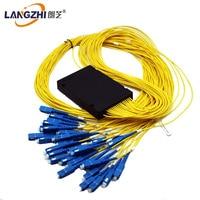 Langzhi 1*32 CATV Glasvezel PLC Splitter pigtail, singlemode, met SC/APC connector voor FTTH, 1x32 ODN box module