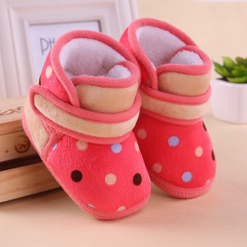 74f789600a6 0 1 year old baby toddler boots shoes soft bottom cotton girls indoor  slippers shoes infant baby first walkers shoes child kids-in First Walkers  from Mother ...