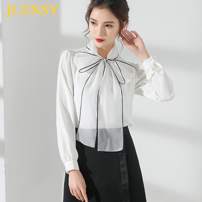 Jlzxsy 2018 Business Black And White Suit Set Women Big -3565