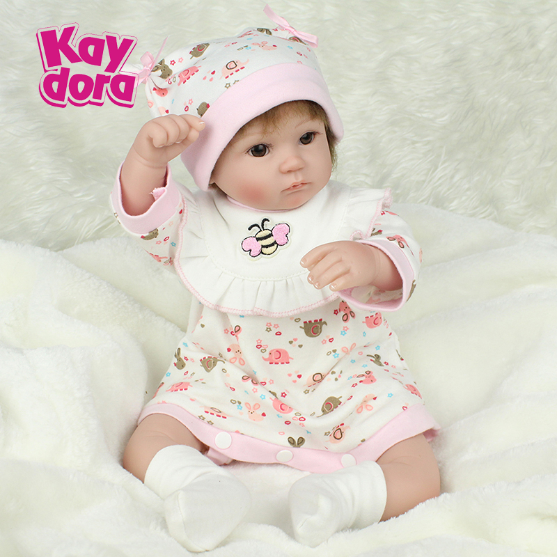 42CM Lifelike Soft Vinyl Silicone Reborn Baby Doll 17 inch mohair hair Dolls Girls Toys For Kids gift Children toys42CM Lifelike Soft Vinyl Silicone Reborn Baby Doll 17 inch mohair hair Dolls Girls Toys For Kids gift Children toys