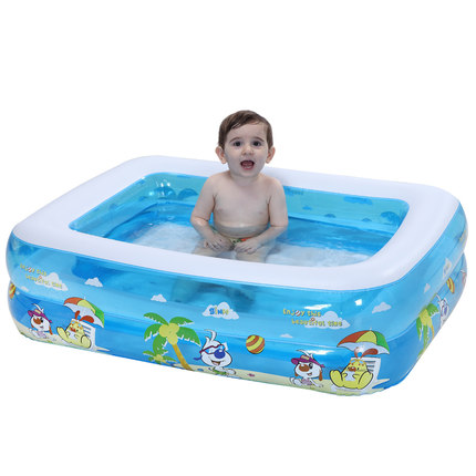 Inflatable Baby Swimming Pool Portable Children Bath Tub Kids Mini ...