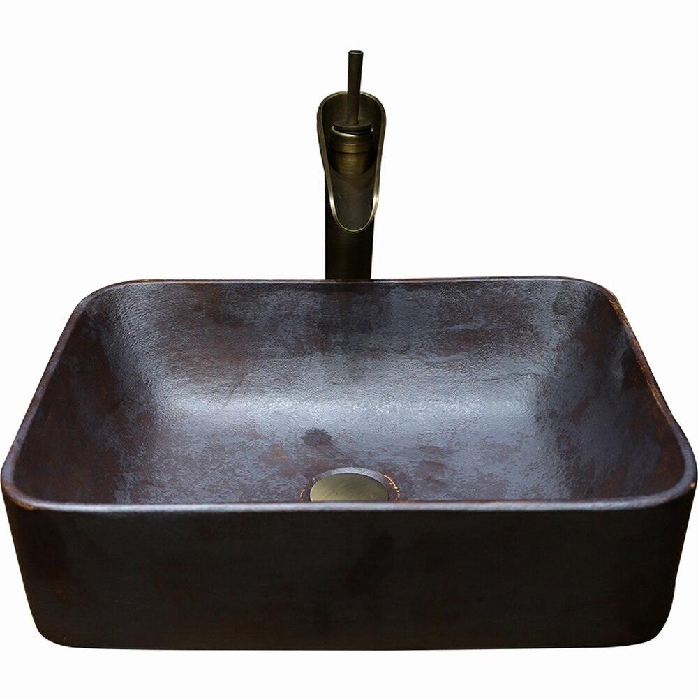 Bagno in ceramica dipinto a mano contenitore di lavabo paesi tertop lavabo guardaroba lavabo LO612414Bagno in ceramica dipinto a mano contenitore di lavabo paesi tertop lavabo guardaroba lavabo LO612414