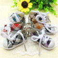5pcs/lots Mixed Color Mini Top Canvas Sneaker Tennis Shoe Keychain Sports Shoes Keyring Doll Funny New Year Gifts