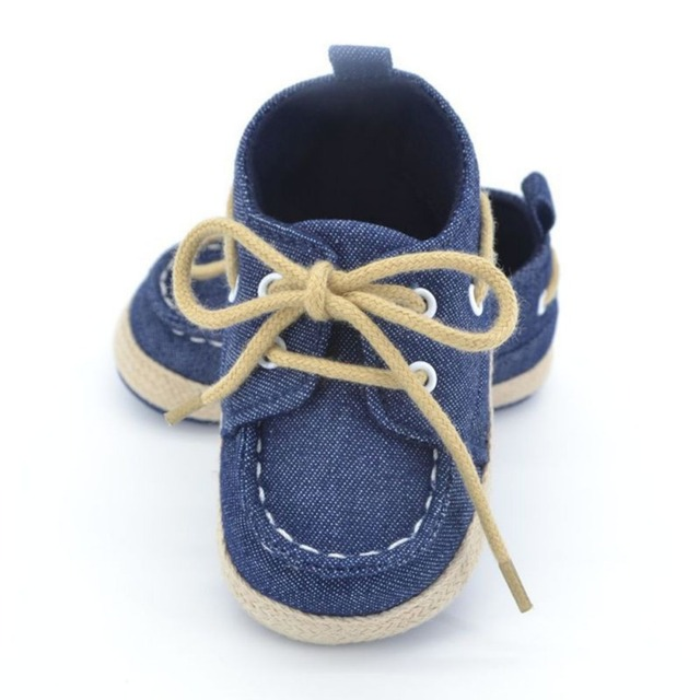 2 Pair Baby Boy Shoes Cotton Canvas Shoes Lace-Up Sports Infant Soft Bottom Anti-slip Footwear Toddler First Walkers 2016 New