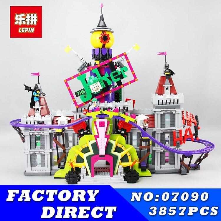 Lepin 07090 3857 Pcs Super Hero Série Le Joker Manoir Ensemble 70922 Blocs de Construction de Briques pour Enfants Enfants Cadeaux