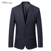 Casual Blazer Men 2018 Spring Mens Suits Blazer Two Button Grid Men Slim Blazer Jacket men Suit Jacket Coats Checked Blazer H506