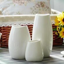 Floor Vase Medium and Small Classic White Ceramic Arts Crafts Decor Flower Creative Gift Household Decoration S