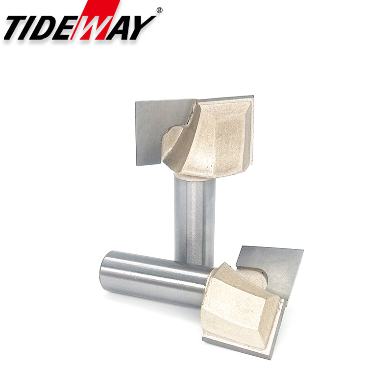 Tideway Bottom Cleaning Router Bits For Wood 1/2 1/4 Inch Shank Woodworking Bits Flat Slotted Cutter Professional Grade Bits