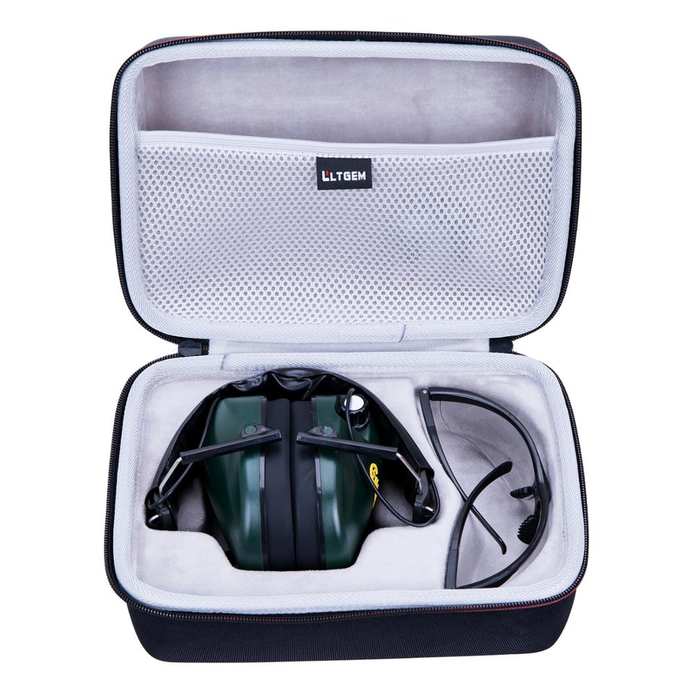LTGEM Carrying Hard Case for Caldwell E-Max Low Profile Electronic 23 NRR Hearing Protection Earmuffs With Shooting Glasses