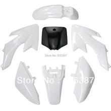 6 белый + 1 черный (число klx110 плиты!) ПЛАСТИКОВЫЕ комплект для CRF50 CRF 50 50cc 70cc 110cc Dirt Велосипед ЯМЫ Off-Road