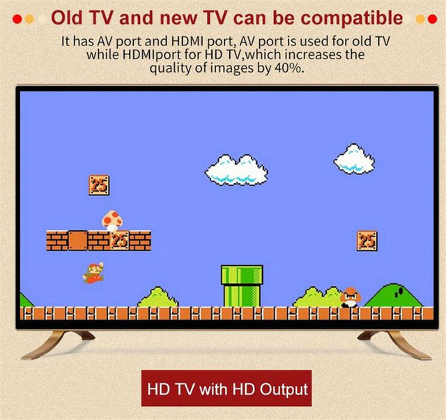 Newest For FC Video Game Console 8bit Nes Classic Game Player With 268 free games HDMI TV Out High Definition wireless gamepad