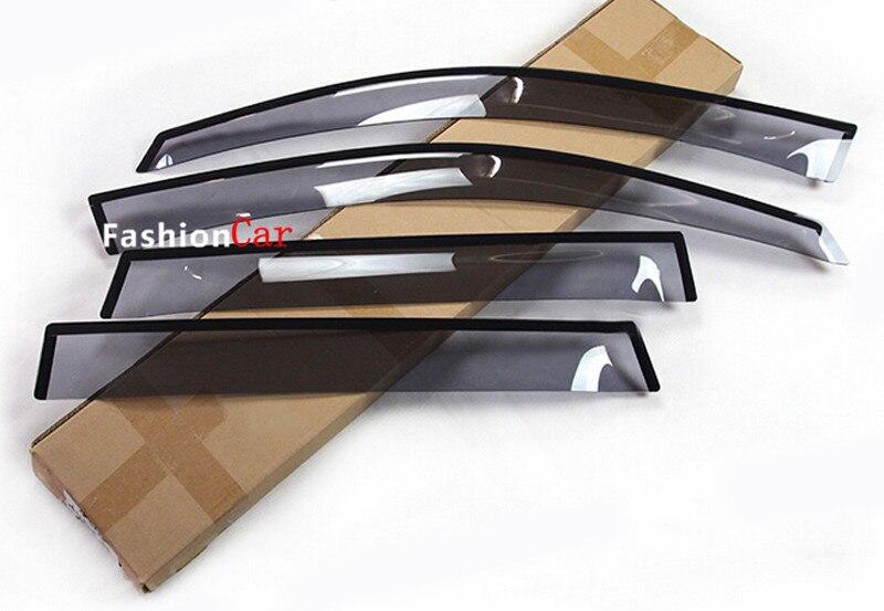 Pour Porsche Cayenne 2015 fenêtre visière Vent ombre pluie/soleil/Vent garde bouclier déflecteur 4 pièces