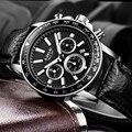 LIGE Mens Relógios Top Marca de Luxo Mens Relógio de Quartzo Hora data Relógio com Pulseira de Couro Moda Casual Homens Relógio de Pulso Militar relógio