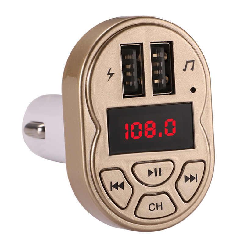 Kit de coche 2019 manos libres reproductor de Audio MP3 para coche con cargador de coche USB Dual de carga rápida de 3.1A transmisor FM modulador auxiliar bluetooth