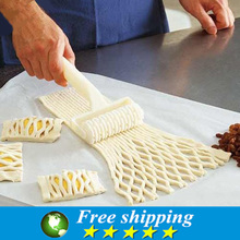 High Quality Plastic Baking Tool Cookie Pie Pizza Pastry Lattice Roller Cutter Craft ,Cooking Tools,Free shipping. 2019 white plastic baking tool cookie pie pizza pastry lattice roller cutter craft plastic baking knife tool 25