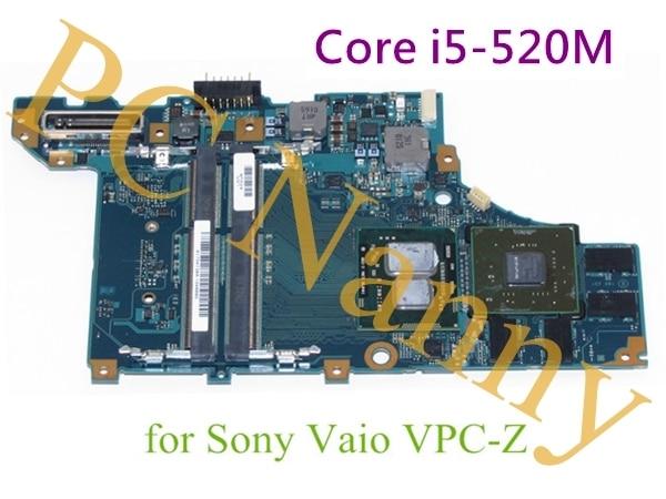 Para Sony Vaio VPCZ1 * Intel Laptop Motherboard integrado 2.4 Core i5-520M * A1754738A MBX-206 *