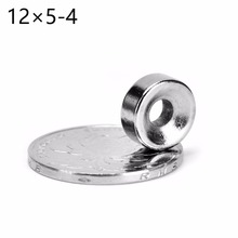 Wholesale  10pcs Round Countersunk Ring Magnet 12mmx5mm Hole 4mm Rare Earth Neodymium  12*5mm  Hot sale APS0539