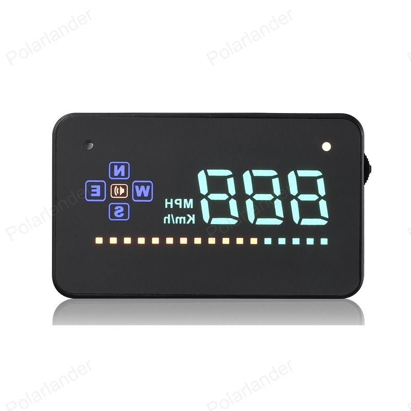 New 3.5 Inch Head Up Display GPS Car HUD Car Speedometer Over speed Alert Alarm Windshield Projector A2 Smallest Size