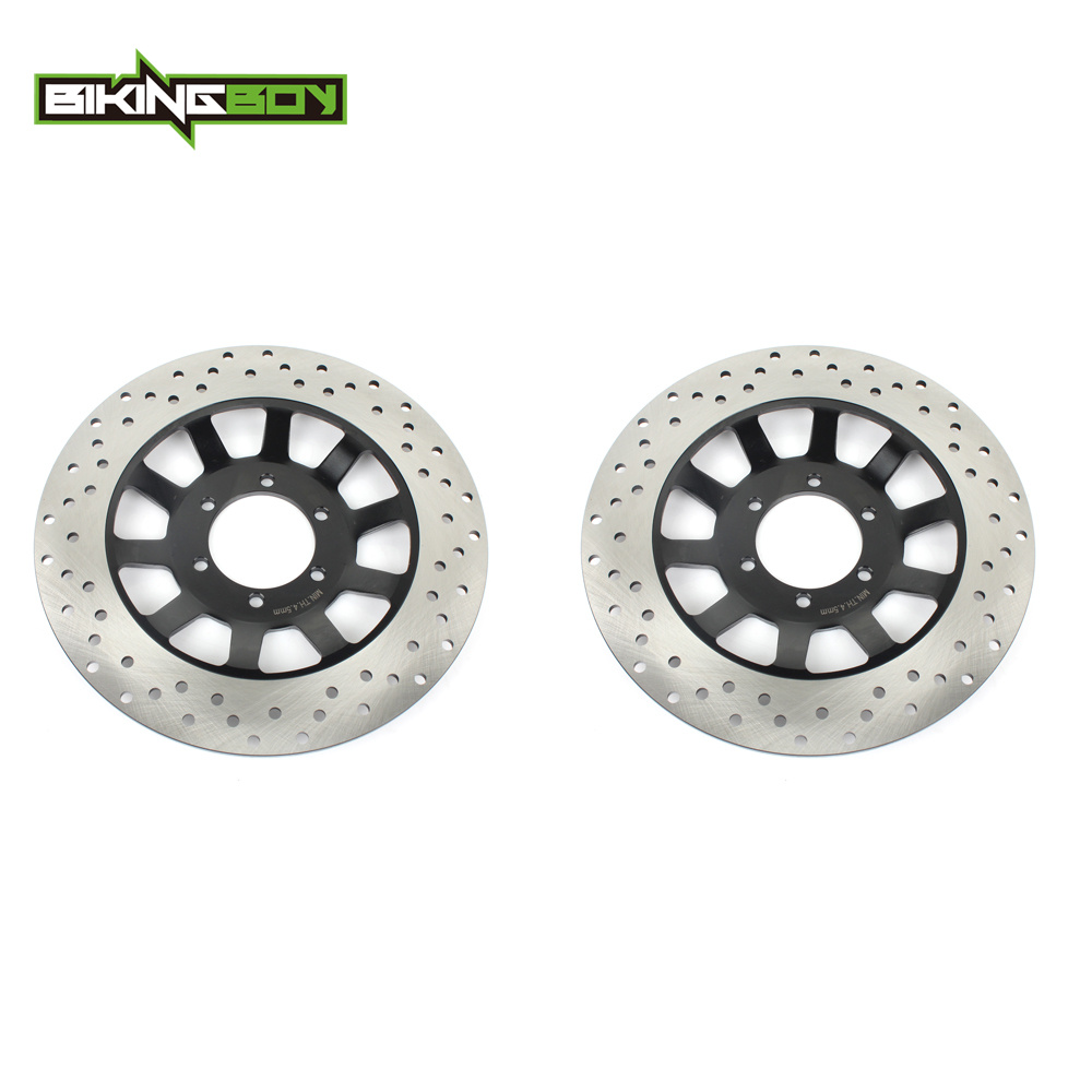 BIKINGBOY Motorcycle Front Brake Disk Disc Rotor for YAMAHA RD RZ 350 LC XS 400 XJ 550 650 750 XV 920 R J Virago 1000 80 1985 84-in Brake Disks from Automobiles & Motorcycles    1