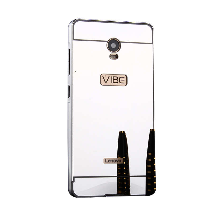 Lenovo Vibe P1 Mirror Case Plating Metal Frame with Back Cover Hard Case  for Lenovo Vibe P1 C58 C72 5 5'' Plating Phone Cases