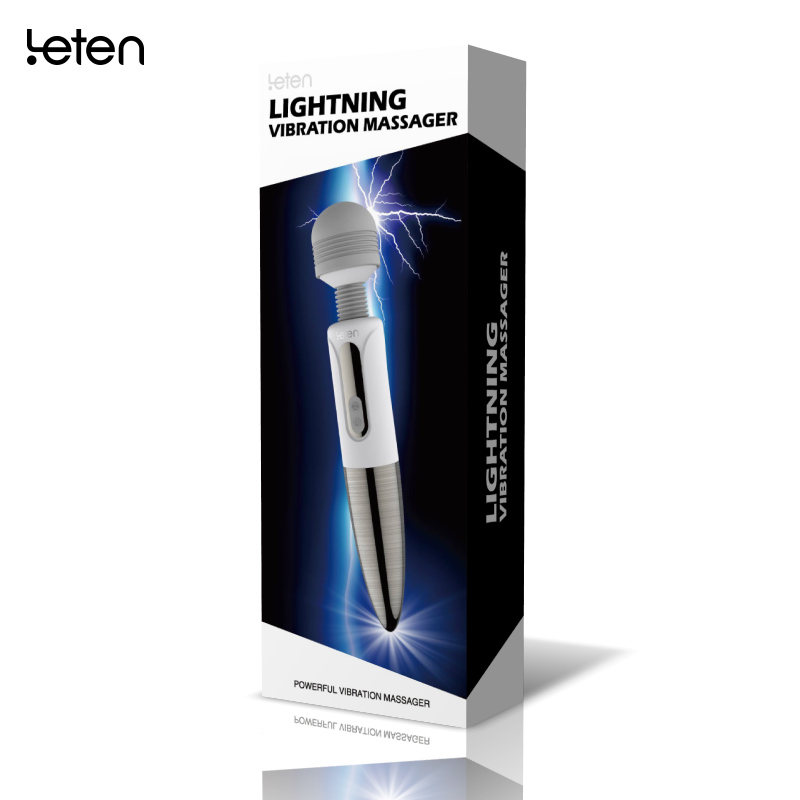 Lightning Multi Speeds Dildo Vibrator Clitoris Stimulator Magic Wand Body Massage Stick Magic AV Wand Sex Toys For Women 10