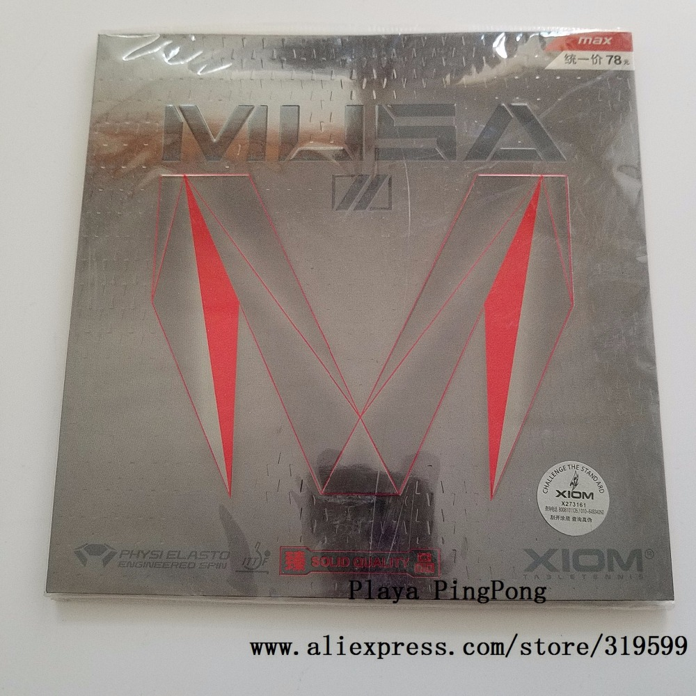 ФОТО Original Xiom MUSA 2 table tennis rubber made in germany cake sponge internal energy for ping pong